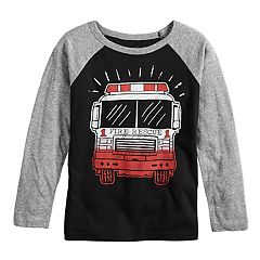 Boys 4-8 Jumping Beans® Fire Truck Raglan Graphic Tee
