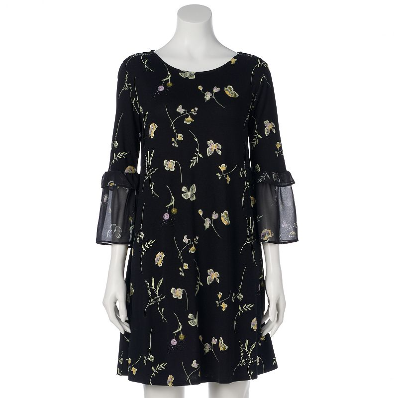 Sku Wl81y020rp Womens Lc Lauren Conrad Bell Sleeve Swing Dress