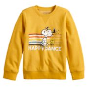 "Boys 4-12 Jumping Beans® Retro Peanuts Snoopy & Woodstock ""Happy Dance"" Softest Fleece Top"