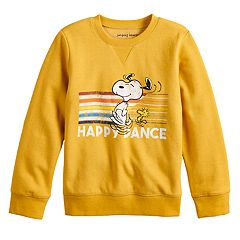 Boys 4-12 Jumping Beans® Retro Peanuts Snoopy & Woodstock 'Happy Dance' Softest Fleece Top