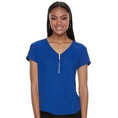 Women's Apt. 9® Lace Accent Zipper Top