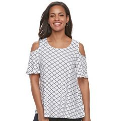 Women's ELLE™ Cold-Shoulder Top