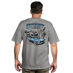 Men's Newport Blue Muscle Car Graphic Tee