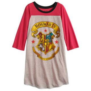 Girls 4-10 Harry Potter Hogwarts Knee Length Dorm Nightgown