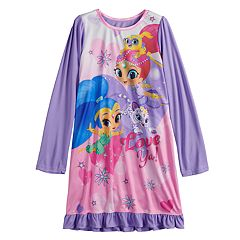 Girls 4-10 Shimmer & Shine Knee Length Dorm Nightgown