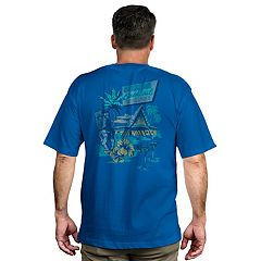 Men's Newport Blue Beverage Graphic Tee