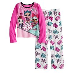 Girls 4-10 L.O.L. Surprise! Fleece Top & Bottoms Pajama Set