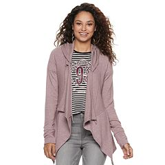 Juniors' Mudd® Hatchi Hooded Cardigan