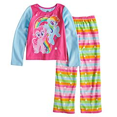 Girls 4-10 My Little Pony Rainbow Dash & Pinkie Pie Fleece Top & Bottoms Pajama Set