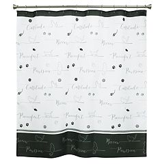 Bacova Guild Underline Cats Shower Curtain