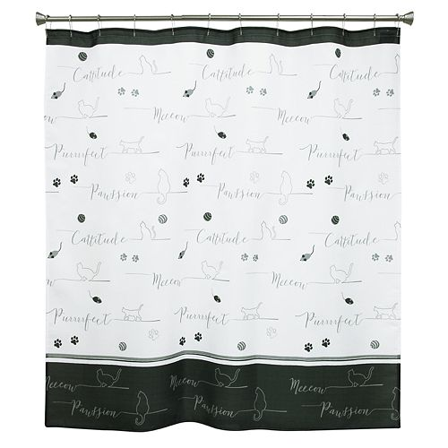 Playful Colorful Kittens Cat Shower Curtain