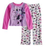 Disney's Vampirina Girls 4-10 Vee Fleece Top & Bottoms Pajama Set