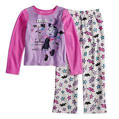 Disney's Vampirina Girls 4-10 Vee Fleece Top & Bottoms Pajama Set