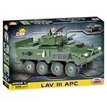 COBI Small Army LAV III APC- Light Armored Vehicle 480-Piece Construction Blocks Building Kit