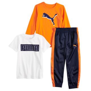 Boys 4-7 PUMA 3 Piece Graphic Tee & Pants Set