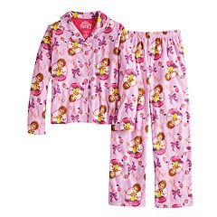 Disney's Fancy Nancy Girls 4-10 Top & Bottoms Pajama Set