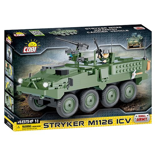 COBI Small Army Stryker M1126 Infantry Carrier Vehicle 485-Piece Construction Blocks Building Kit