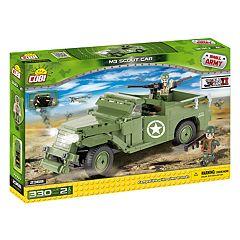 COBI Small Army World War II M3 Scout Car 330-Piece Construction Blocks Building Kit