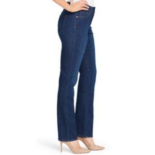 Women's Gloria Vanderbilt MidRise Rail Straight-Leg Jeans