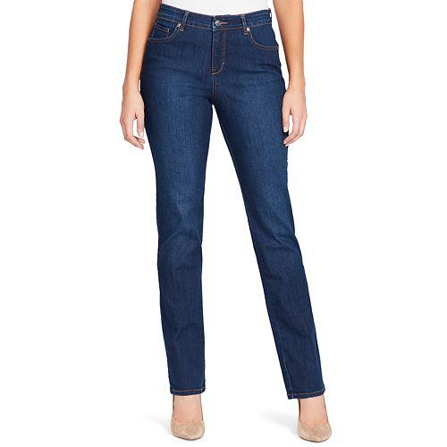 Women's Gloria Vanderbilt Mid Rise Rail Straight-Leg Jeans