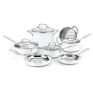 Cuisinart® Chef's Classic Stainless Color Series 11-piece Cookware Set