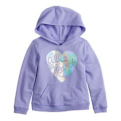 Toddler Girl Jumping Beans® Foiled Heart Graphic Hoodie