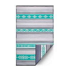 Fab Habitat Ibiza Geometric Boho Indoor Outdoor Rug