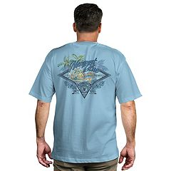 Men's Newport Blue Island Tropical Graphic Tee