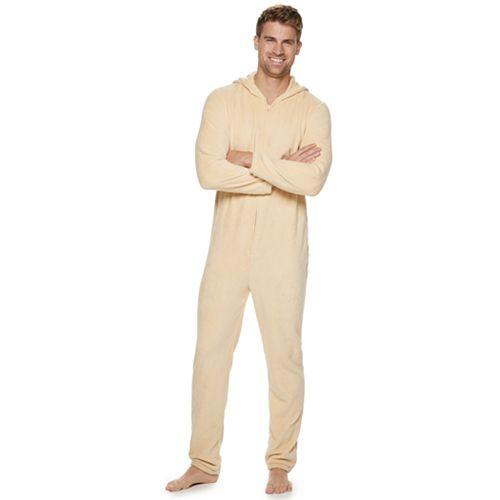 Men's Pug Hooded Union Suit