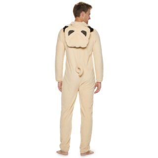 Men's Pug Hooded Union Suit
