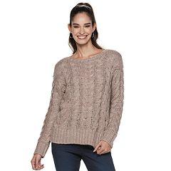 Women's Jennifer Lopez Chunky Cable-Knit Sweater