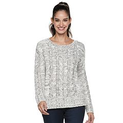 Women's Jennifer Lopez Chunky Cable-Knit Sweater