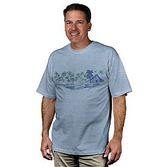 Men's Newport Blue Lima Bay Tropical Graphic Tee
