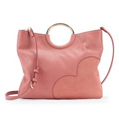 LC Lauren Conrad O-Ring Heart Convertible Crossbody Bag