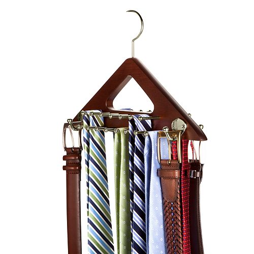 Nifty Wooden Tie & Belt Hanger