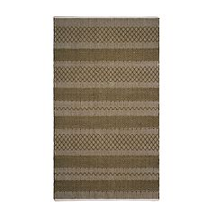 Fab Habitat Mir Striped Indoor Outdoor Rug