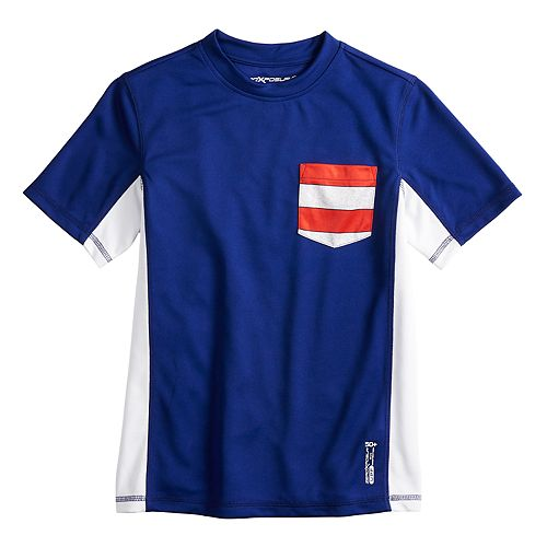 86e91f06497fc Boys 8-20 ZeroXposur Colorblock Americana Rash Guard Pocket ...