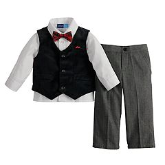 Toddler Boy Great Guy Velvet Vest, Shirt, Pants & Bowtie Set