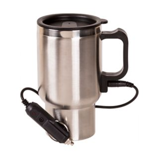 Grease Monkey Heated Stainless Steel Travel Mug with 12V Adapter