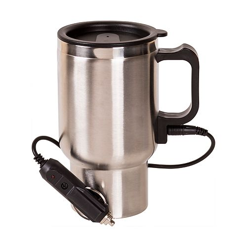 f6197ff3913 Grease Monkey Heated Stainless Steel Travel Mug with 12V Adapter