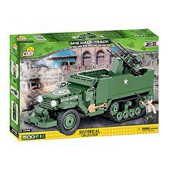 COBI Small Army World War II M16 Half-Truck 500-Piece Construction Blocks Building Kit