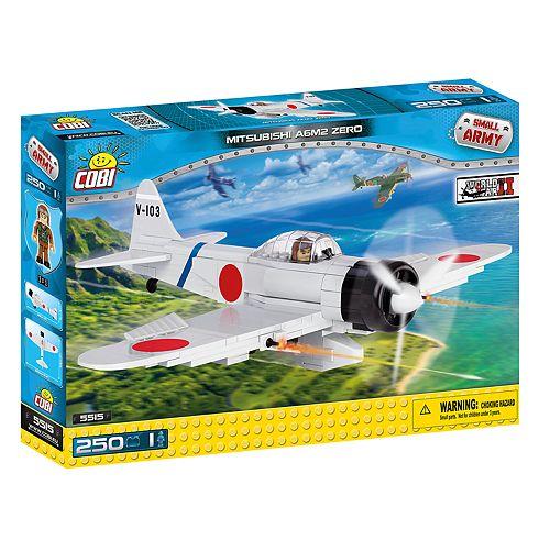COBI Small Army World War II Mitsubishi A6M2 Zero Airplane 250-Piece Construction Blocks Building Kit