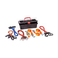 Grease Monkey Performance Tie-Down & Bungee Cord Set