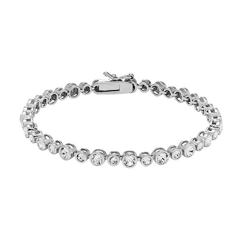 Diamond Splendor Sterling Silver Crystal & Diamond Accent Bubble Bracelet