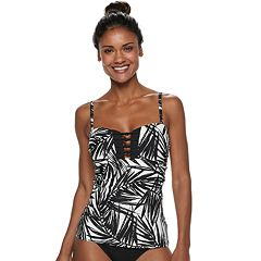 Women's Apt. 9® Palm Leaf Strappy Bandeaukini Top