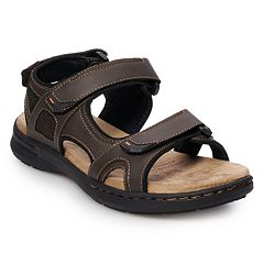 6a603f71c7bd Croft   Barrow® Charles Men s Ortholite Sandals. Brown Black