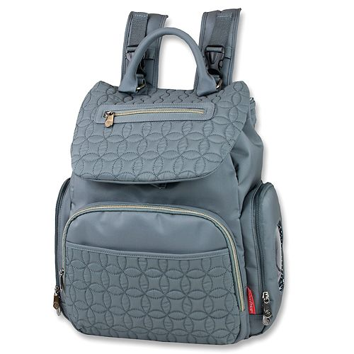 Fisher-Price Signature Quilted Flap Backpack Diaper Bag