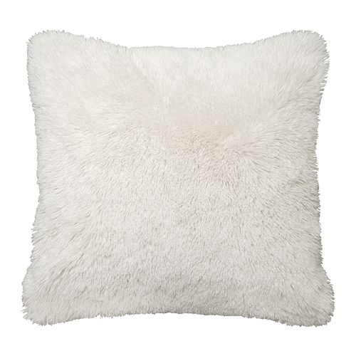 Spencer Home Decor Solid Faux Fur Throw Pillow