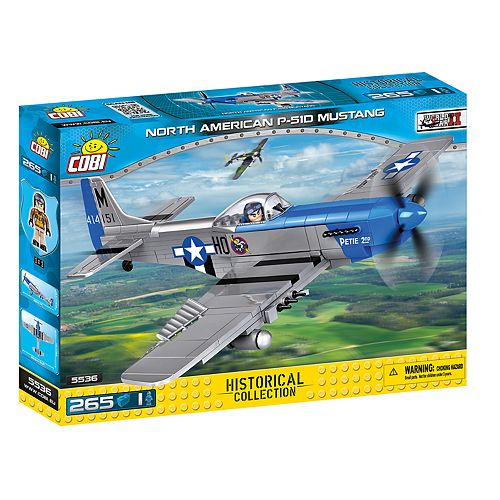 COBI Small Army World War II North American P-51D Mustang Airplane 265-Piece Construction Blocks Building Kit