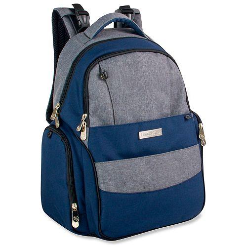 Fisher-Price Skye Heather Denim Backpack Diaper Bag